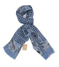 Immagine di Sciarpa in lana fantasia fondo celeste
