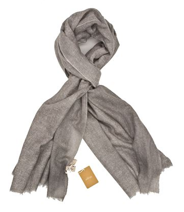 Picture of Light grey Cashmere wool scarf