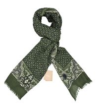 Picture of Light wool scarf army green background