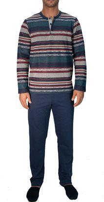 Picture of Winter Cotton men's Pyjamas, 3 buttons