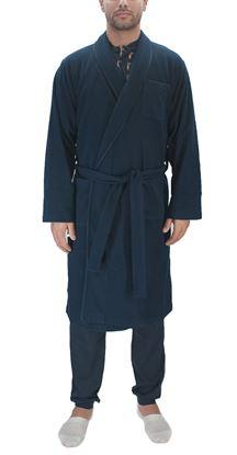 Picture of Men's blue fleece dressing gown